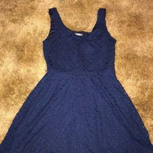 Lily rose navy lace dress